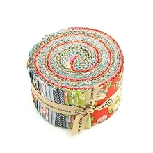 Penny Rose Fabrics - Linen and Lawn - 2.5 Inch Rolie Polie 40 Pieces
