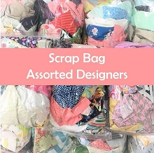 Fabric Scrap Bag - Assorted Designers