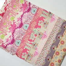 Fabric Scrap Bag - Tilda in Pink Shades