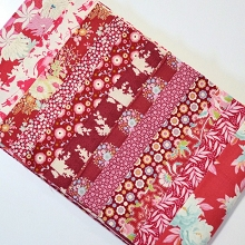 Fabric Scrap Bag - Tilda in Red Shades