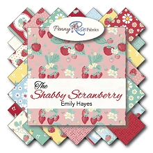 Penny Rose Fabrics - The Shabby Strawberry - Half Metre Bundle of 19 Pieces