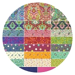 Freespirit - Slow And Steady by Tula Pink - Precut 2 1/2 Inch Strips Bundle of 40 Pieces