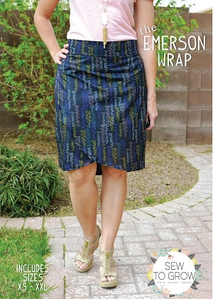 Sew to Grow Patterns - The Emerson Wrap Skirt