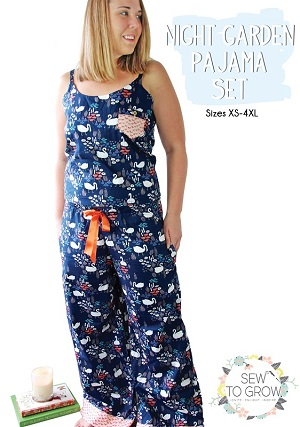Sew to Grow Patterns - Night Garden Pajama Set