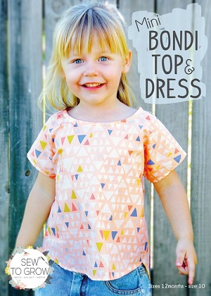 Sew to Grow Patterns - Girls Mini Bondi Top & Dress