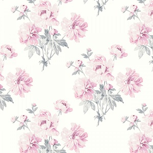 Camelot Fabrics - The Grace Collection by Laura Ashley - Peonies in White