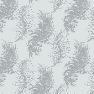 Camelot Fabrics - The Grace Collection by Laura Ashley - Plume in Light Grey
