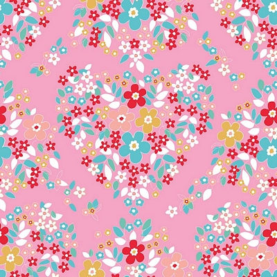 Riley Blake Designs - Forget Me Not Main Pink