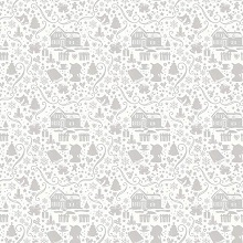 Penny Rose Fabrics - Anne of Green Gables Christmas - Silhouette Grey