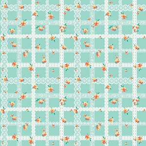 Penny Rose Fabrics - Bunnies and Blossoms Lace Teal