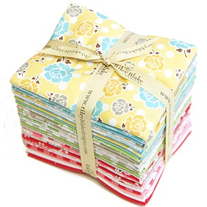 Riley Blake Designs - Polka Dot Stitches - Fat Quarter Bundle of 28 Pieces