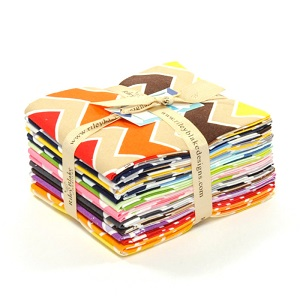 Riley Blake Designs - Shaded Chevron - Fat Quarter Bundle of 15 Pieces