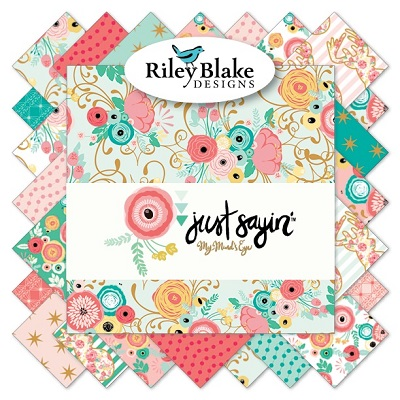 Riley Blake Designs - Just Sayin' - Half Metre Bundle of 18 Pieces
