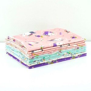 Camelot Fabrics - I Believe In Unicorns - Half Metre Bundle of 12 Pieces