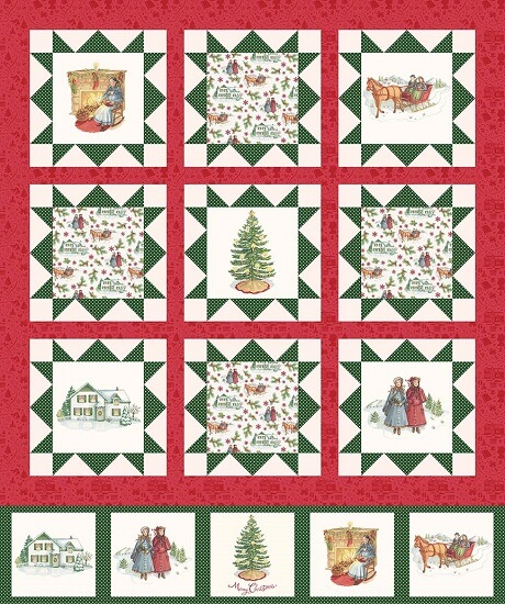 Penny Rose Fabrics - Anne of Green Gables Christmas - Panel Cream