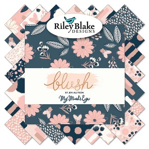 Riley Blake Designs - Blush - 2.5 Inch Rolie Polie 40 Pieces *** PREORDER ARRIVING APRIL ***