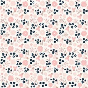 Riley Blake Designs - Blush Floral Cream Sparkle *** PREORDER ARRIVING APRIL ***