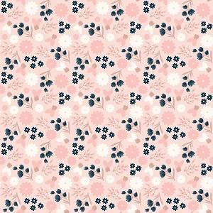 Riley Blake Designs - Blush Floral Pink Sparkle *** PREORDER ARRIVING APRIL ***