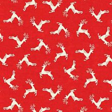 Andover - Scandi Christmas - Deer Scatter in Red