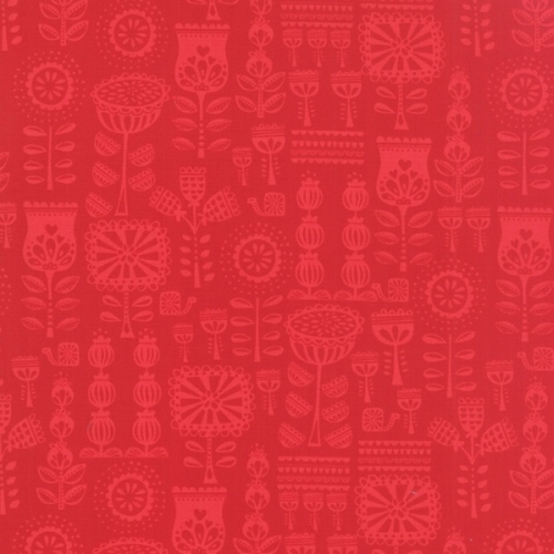 Moda - Lil Red Grandmothers Wallpaper in Red