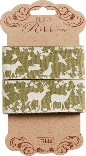 Tilda - Autumntree Ribbon Forest Green