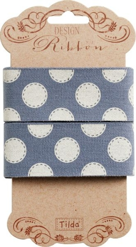 Tilda - Autumntree Ribbon Sewn Spot in Blue