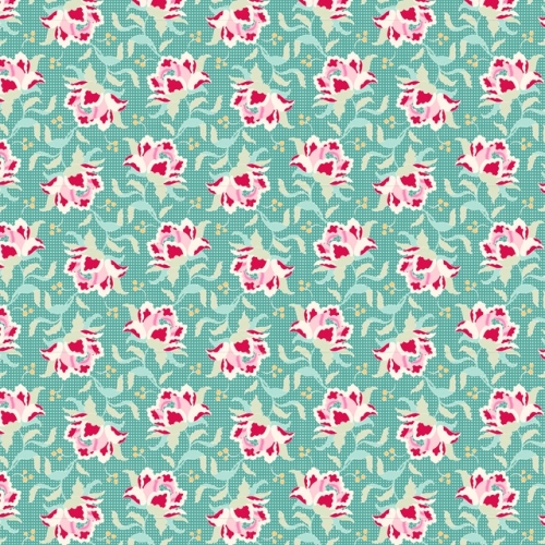Tilda - Circus - Clown Flower in Teal