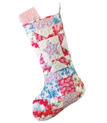 Tilda - Cottage  - Patchwork Christmas Stocking - LIMITED EDITION