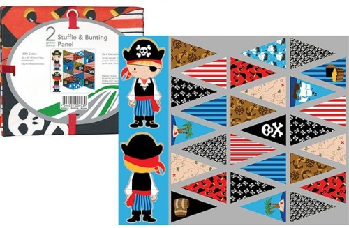 Pirate Softie and Bunting Panel