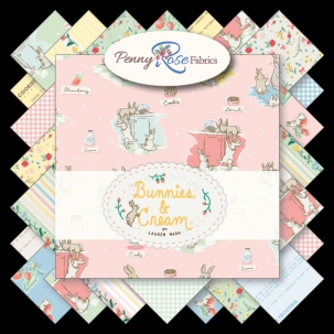 Penny Rose Fabrics - Bunnies and Cream 2.5 Inch Rolie Polie 40 Pieces