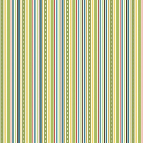 Riley Blake - Cruiser Stripe in Green *** REMNANT 3 METRE PIECE ***