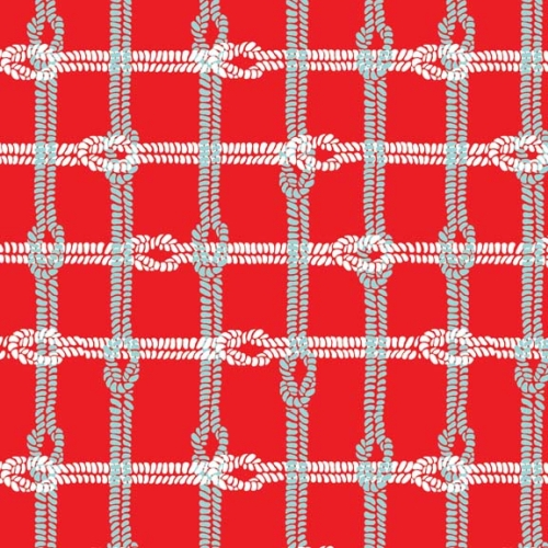 Riley Blake Designs - Maritime Modern Knotty Plaid in Red *** REMNANT PIECE 81CM X 112CM ***