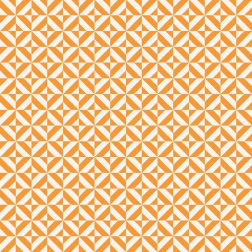 Riley Blake Designs - Fun & Games - Geometric in Orange *** REMNANT 1.28 METRE PIECE ***