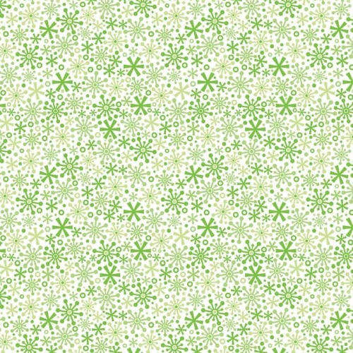 Riley Blake Designs - Home For The Holidays - Snowflakes in Green