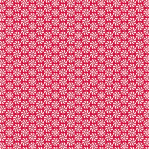 Riley Blake Designs - Home For The Holidays - Peppermint in Red *** REMNANT PIECE 82CM X 112CM ***
