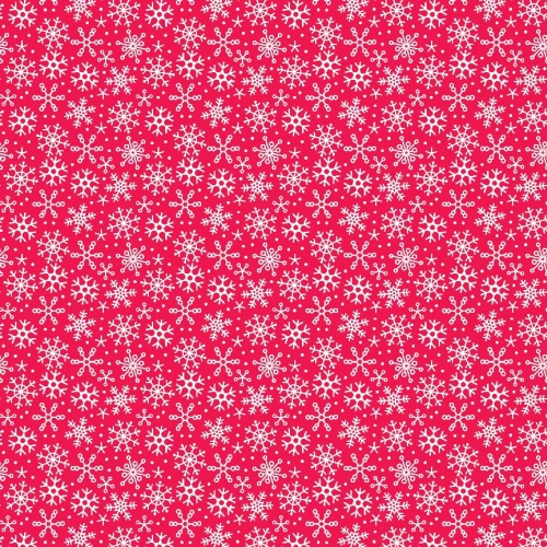Riley Blake Designs - Santa Express Snowflakes in Red ***REMNANT PIECE 62CM X 112CM***