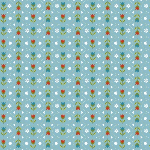 Riley Blake Designs - Dutch Treat - Stripe Blue