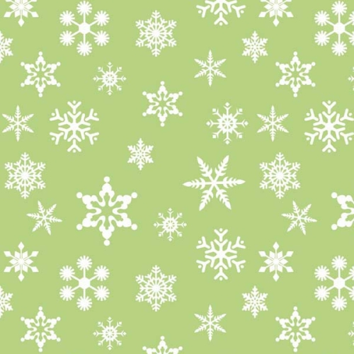 Riley Blake Designs - Holiday Snowflakes in Green