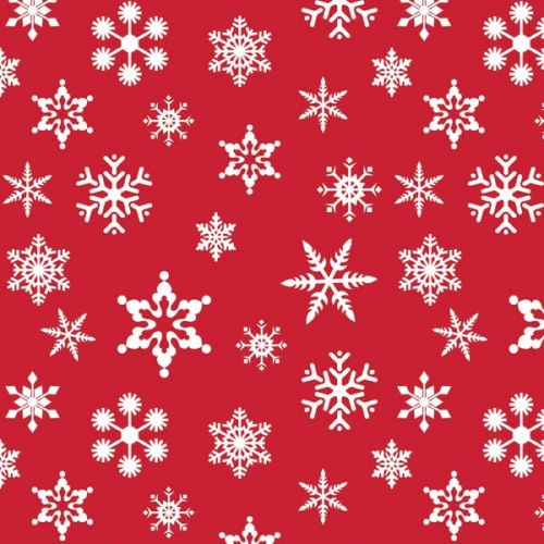 Riley Blake Designs - Holiday Snowflakes in Red