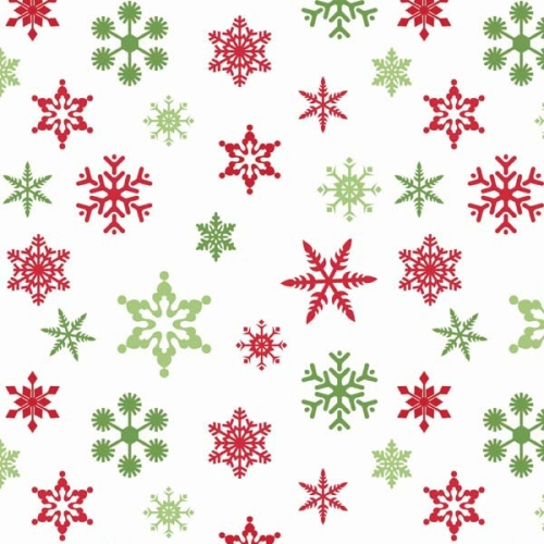 Riley Blake Designs - Holiday Snowflakes in White