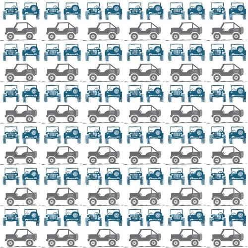Riley Blake Designs - J is for Jeep Jeeps in Grey