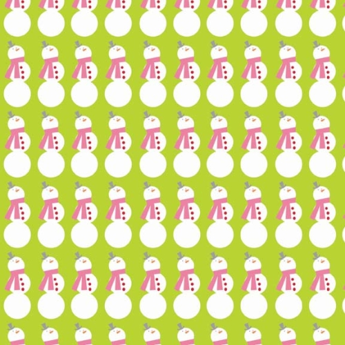Riley Blake Designs - Christmas Basics - Snowman in Lime
