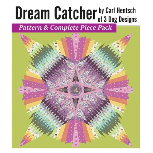 Dream Catcher Quilt Pattern and Paper Piece Pack plus 3 pce Acrylic Templates