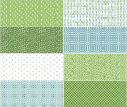 Riley Blake Designs - Cozy Christmas - Fat Eight Panel in Green