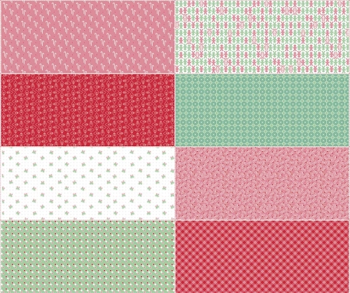 Riley Blake Designs - Cozy Christmas - Fat Eight Panel in Red