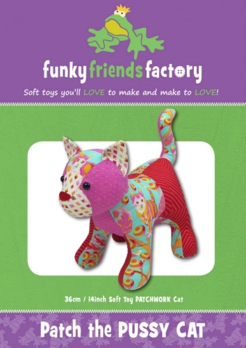 Funky Friends Factory - Patch the Pussycat Softie Pattern