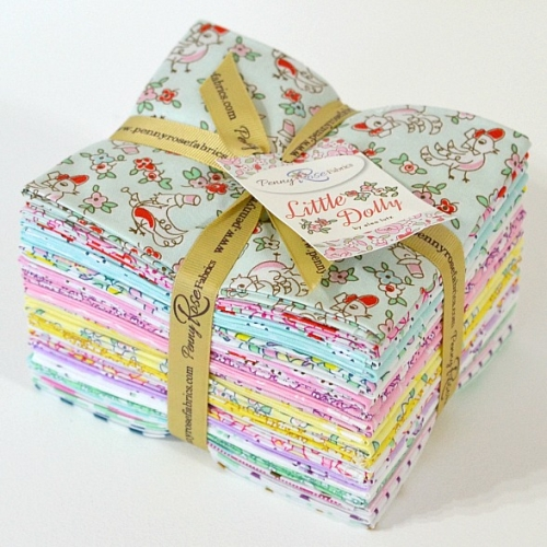 Penny Rose Fabrics - Little Dolly - Fat Quarter Bundle of 21 Pieces