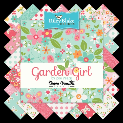 Riley Blake Designs - Garden Girl - Half Metre Bundle of 18 Pieces