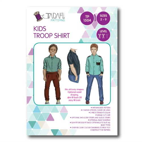 Tadah Patterns - Kids Troop Shirt Pattern