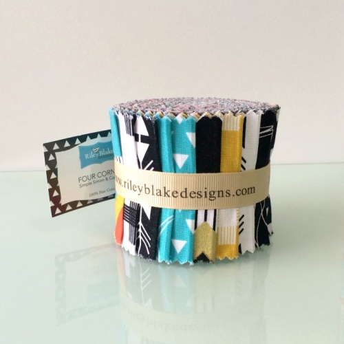 Riley Blake Designs - Four Corners by Simple Simon & Co - 2.5 Inch Rolie Polie of 15 fabrics